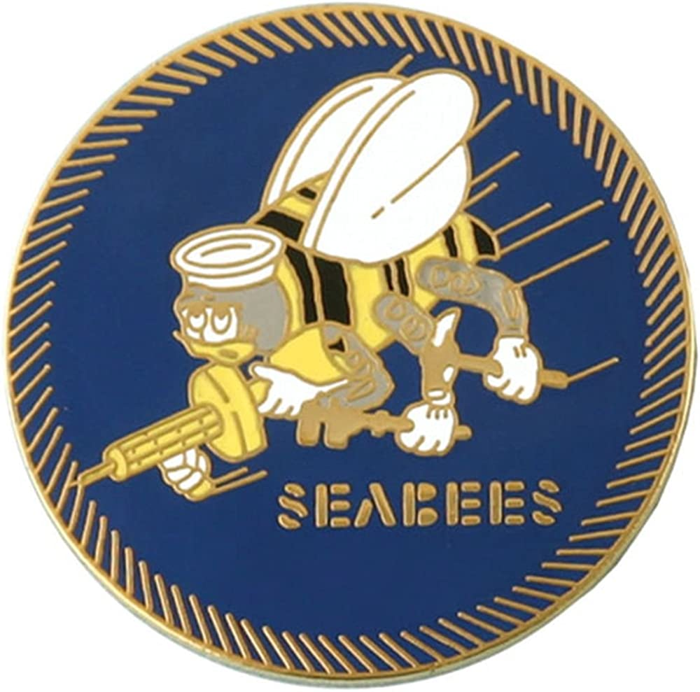 Year of the Seabee Lapel Pin