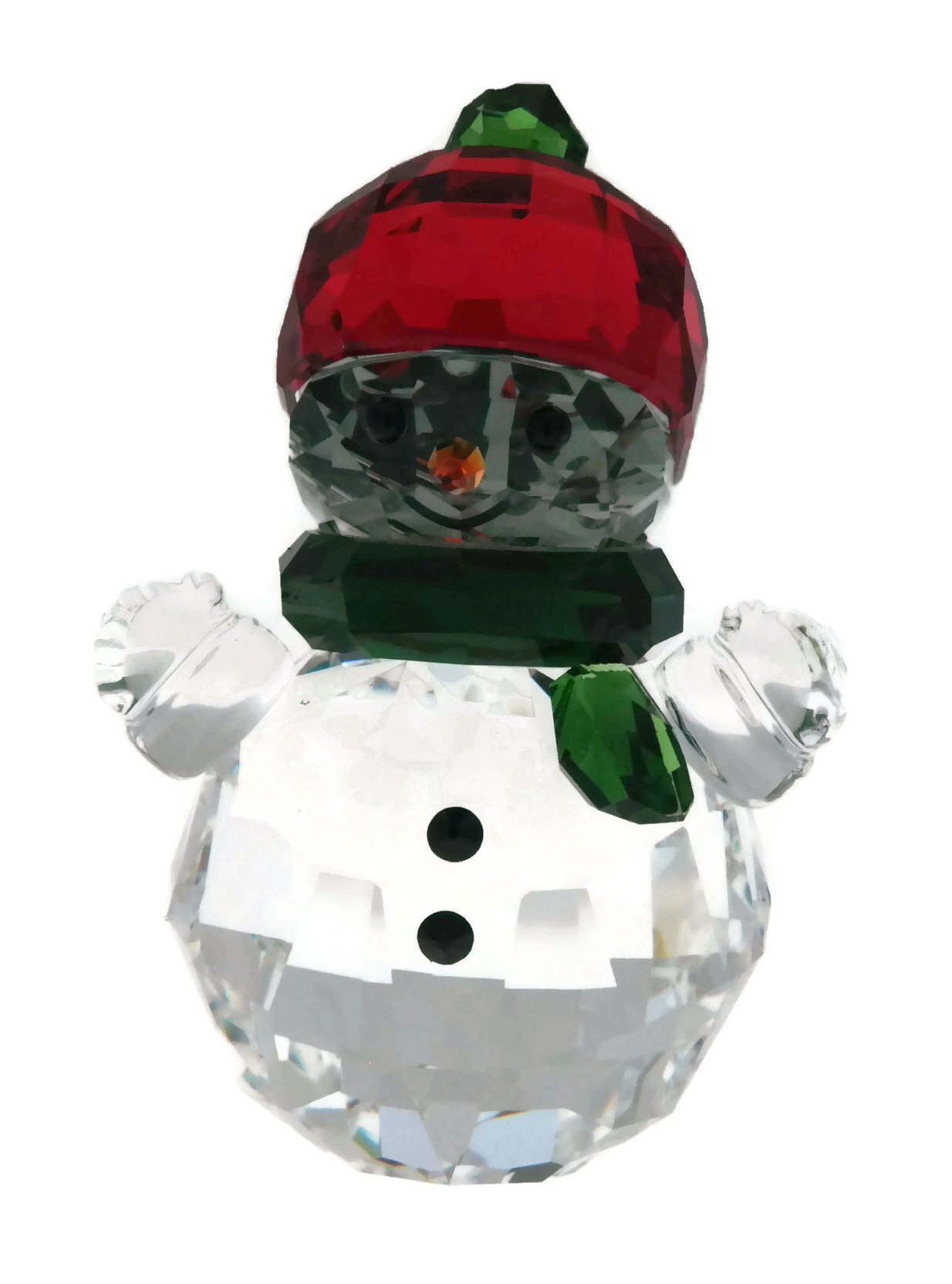 Swarovski Crystal Snowman with Red Hat