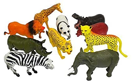 10 Pcs Large Zoo Animals