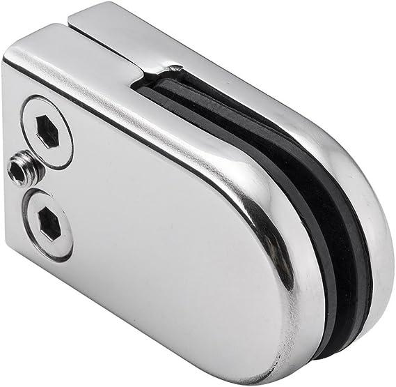Dessin DIYI Lot de 4 pinces en acier inoxydable pour vitre de balustrade 6-8 mm clips verre