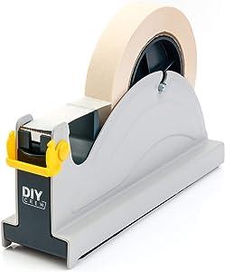 Tape Dispenser Desk - Weighted Tape Dispenser, Easy One Hand Operation - Tape Holder (1 inch Tape)