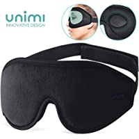 Eye Mask for Sleeping, Unimi 3D Contoured Sleep Mask & Blindfold for Men Women,Super Soft and Comfortable,100% Blockout Light 3D Eye Cover for Travel, Shift Work, Naps (Black#)