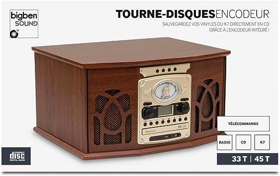 Bigben Interactive TD112 – Tocadiscos Manual de Diseño Retro (2 ...