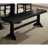 New 5 Foot Wide Solid Wood Dining Bench in Black Finish Review