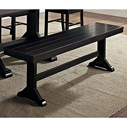 Amazon Com New 5 Foot Wide Solid Wood Dining Bench In Black Finish