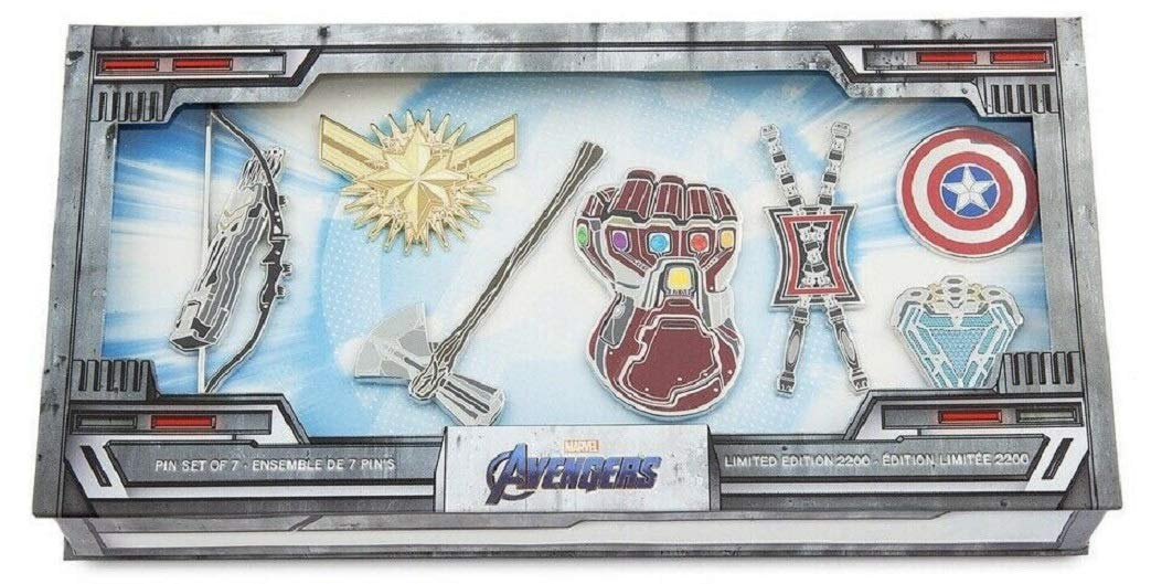 2019 Marvel Avengers: Endgame pin set of 7 Limited Edition Of 2200 by Memories