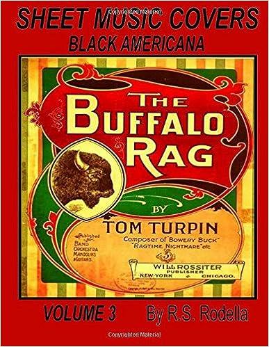 Sheet Music Covers Volume 3 Coffee Table Book: Black Americana