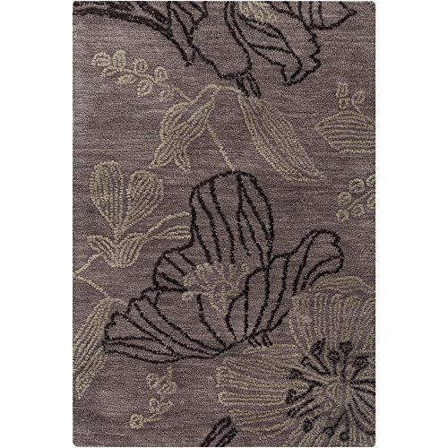 Surya Ameila AME-2226 Transitional Hand Tufted 100% Polyester Mulled Wine 2' x 3' Accent Rug ()