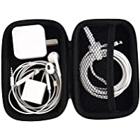 Teconica ZS10 Latest Mini Square Shape Carrying Pouch for Earphone, USB Cables, Earbuds & Small Coin Pouch (Assorted Colour)