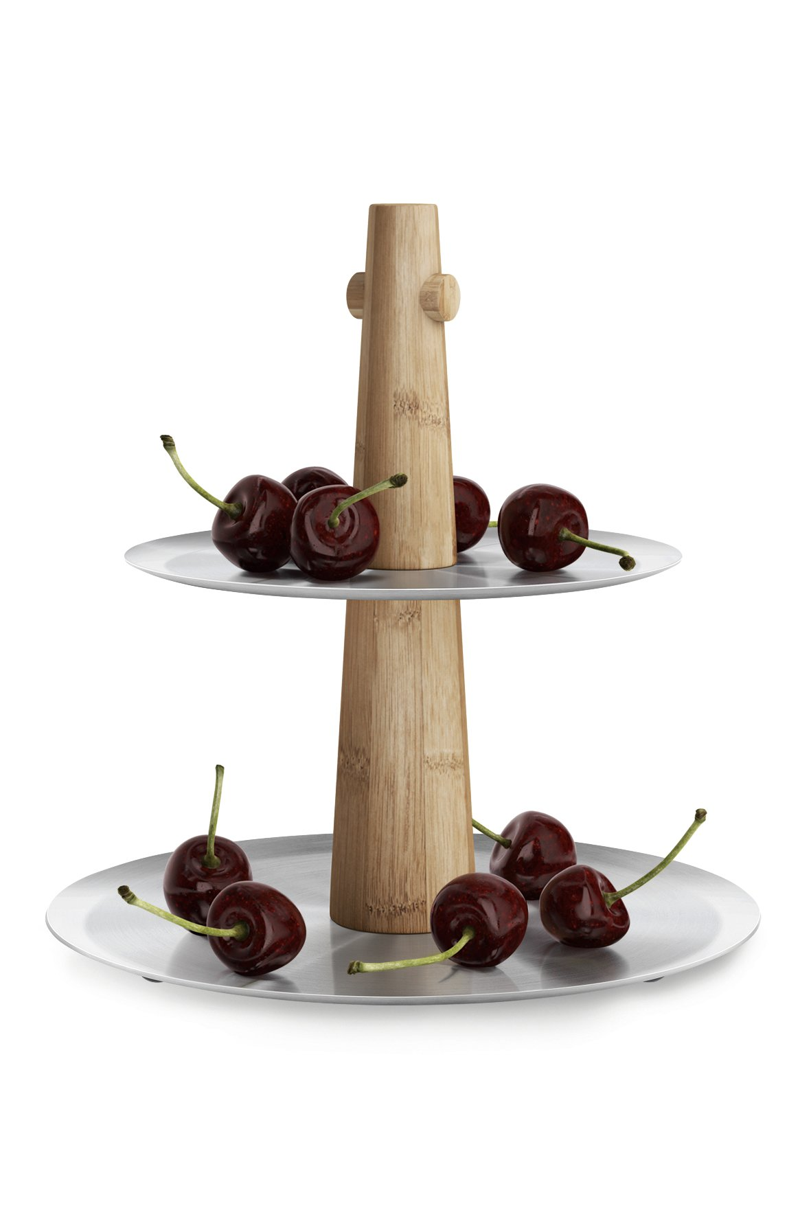 ZACK Stainless Steel Sevore Cake Stand with Rubber Feet, 8.66'' x 6.89'' x 9.13'', Silver Metallic