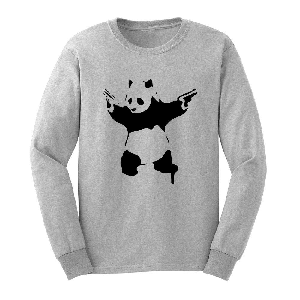Loo Show Banksy Stencil Grati Panda With Gun T Shirts Tee