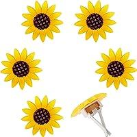 6 Pieces Car Air Freshener Sunflower car Accessories Sunflower Air Vent Clips Cute Car Air Freshener Sunflowers Gift…