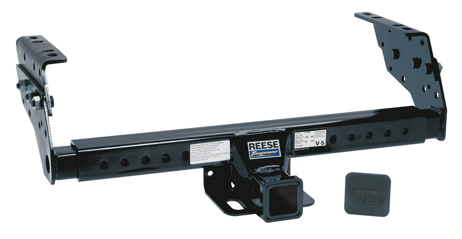 Reese Towpower 37042 Class III Multi-Fit Receiver Hitch with 2 Receiver opening