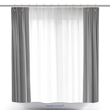 Amazoncom Vanfan Cool Shower Curtains Transparent Curtain On