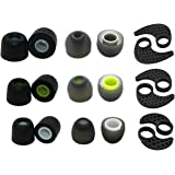 Accessory Pack for JayBird BlueBuds X, X2 & X3 Bluetooth Sport Headphones (3 Pair Memory Foam, 3 Pair SILICONE EAR FINS & 3 Pair Silicone Rubber Replacement Earbuds, Ear Tips)