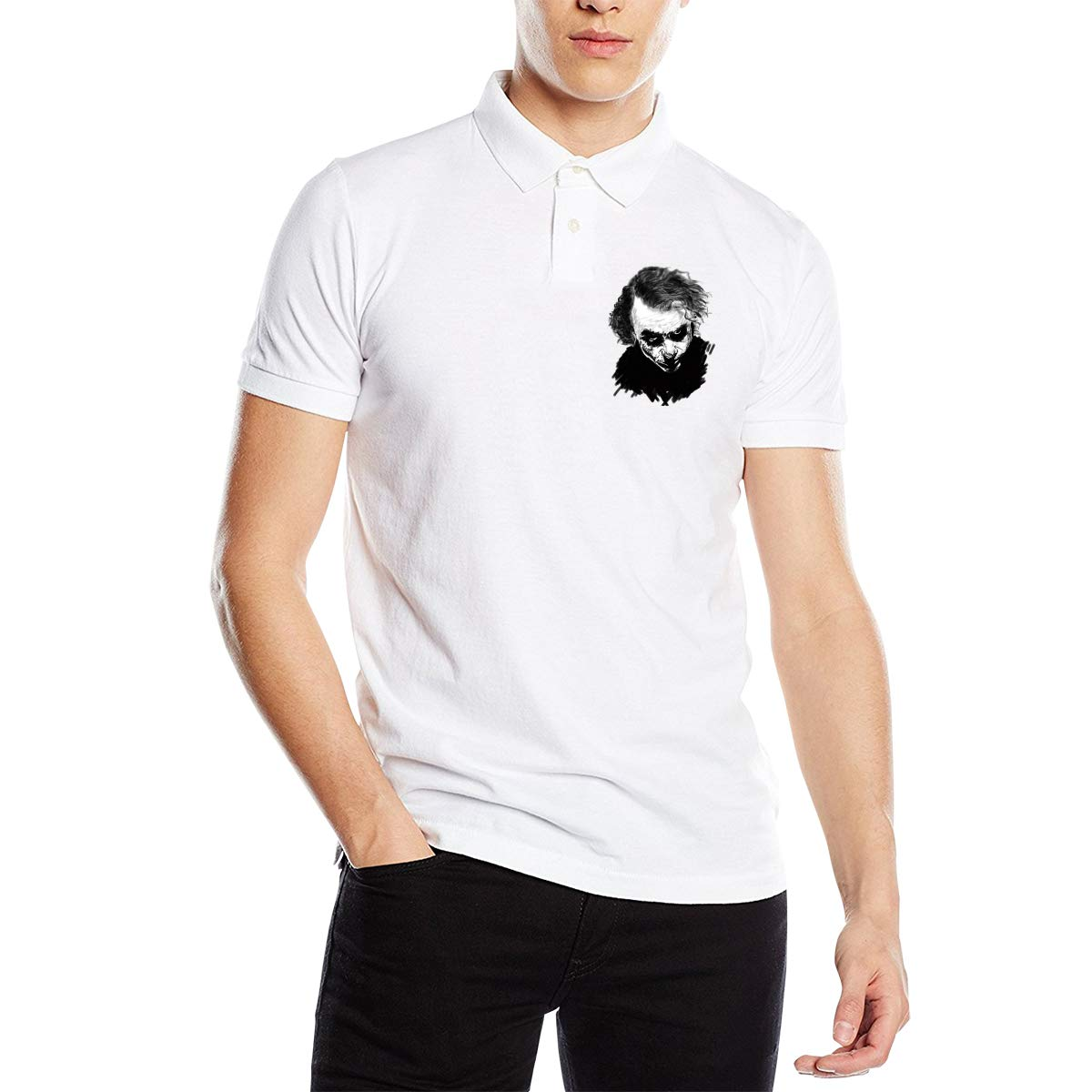 YONG-SHOP Joker Mens Regular-Fit Cotton Polo Shirt