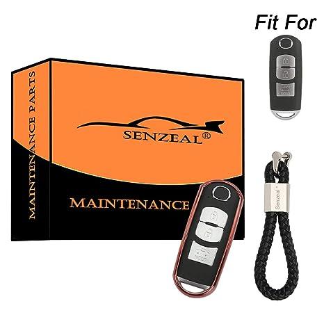 Amazon.com: Senzeal - Carcasa de TPU para llave de Mazda 2 ...