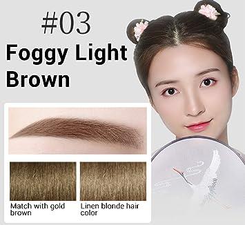 Amazon.com : 3 In 1 Waterproof Eyebrow Pencil, Makeup Natural Long Lasting, Eyebrows Pencil + Powder + Brush (foggy light brown) : Beauty
