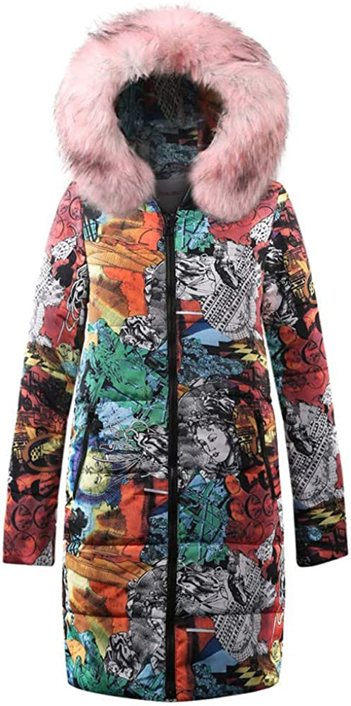 TWGONE Womens Winter Long Down Cotton Ladies Parka Hooded Coat Quilted Jacket Outwear