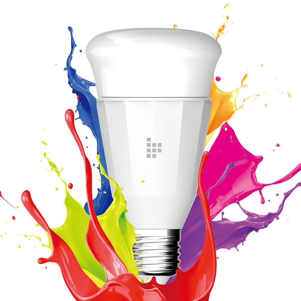 Tronsmart Bombilla Inteligente WiFi LED 9W Luz Nocturna Regulable Inalámbrica RGBW,Control Remoto Compatible Alexa