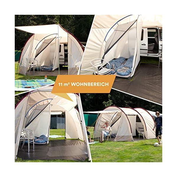 Skandika Camper Tramp Free-Standing Minivan Awning Tent With 2-Berth Sleeping 2