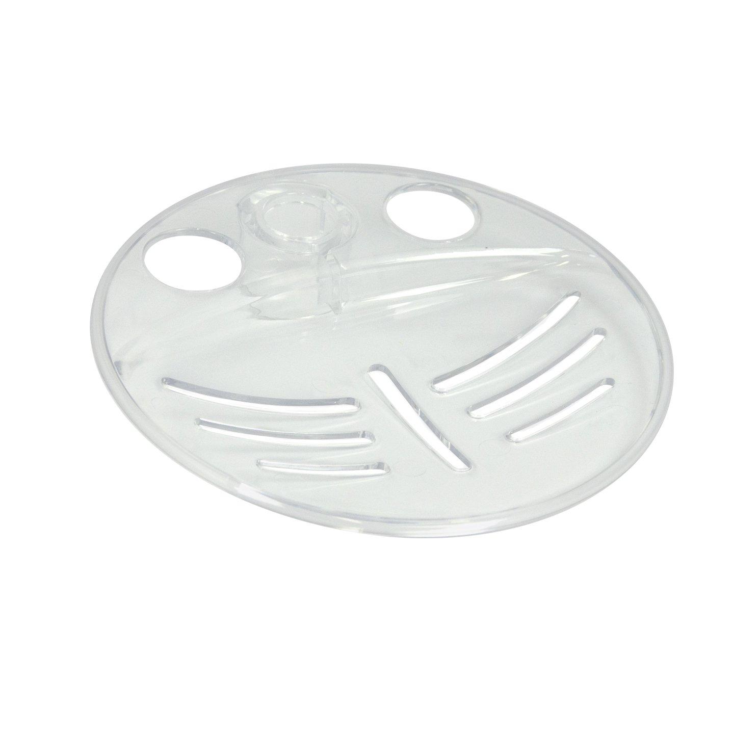 Triton 19mm Riser Rail Soap Dish - White RERRSD19WHT