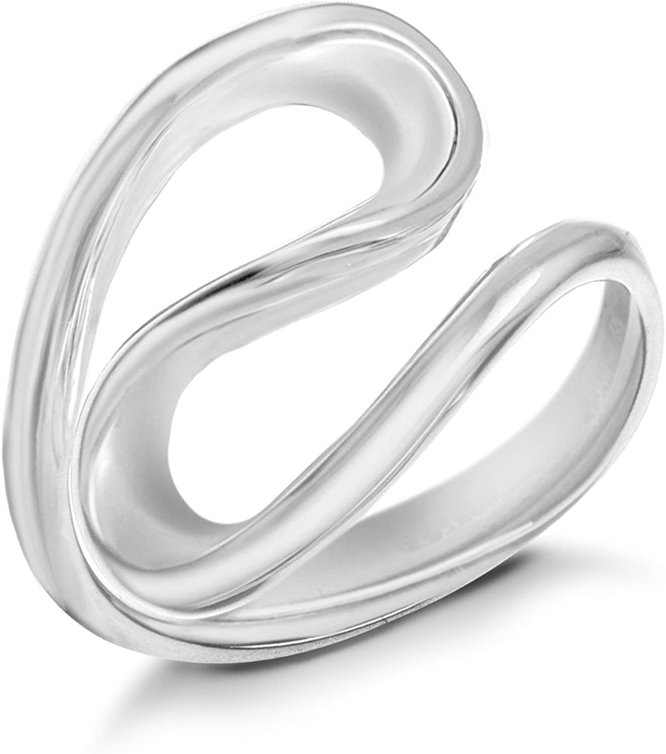 Sterling Silver Double Loop Ring