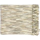 Surya Teegan TEE-1001 Knit Hand Woven 100% Acrylic Gray 55'' x 78'' Throw