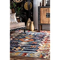 nuLOOM 200KKFA08A-208 Vintage Abstract Osteen Rug Area, 2 x 8