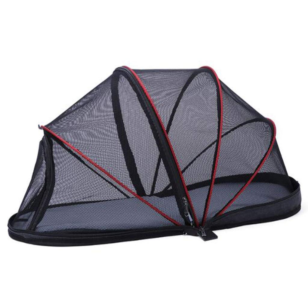 Outdoor Pet Tent, Soft-Sided Pet Travel Carrier Portable Folding Cats Dog Tent Cage,Suitable for Indoor and Outdoor Travel Camping with Pets(Black,bluee) (color   Black)