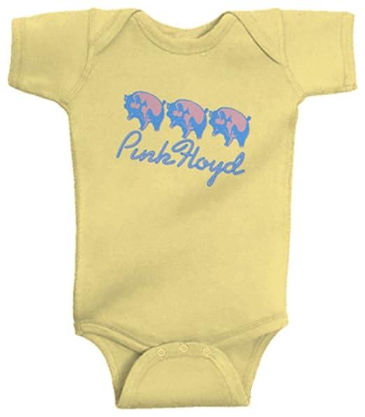 Amazon.com: Pink Floyd 3 Cerdos Unisex Baby Body, Amarillo ...