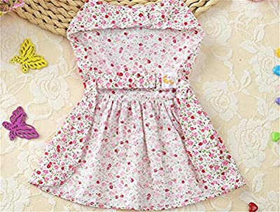 Petroom Puppy Dog Dress ,Thin Cute Floral Princess Ribbon Skirt For Small Dogs Cats For Summer