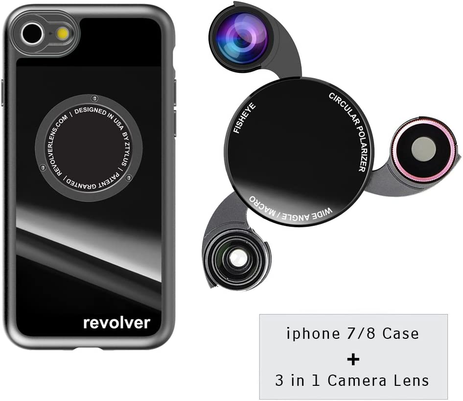 iPhone X Camera Lens Kit with Case Fisheye Lens 0.45X Super Wide Angle Lens CPL Lens