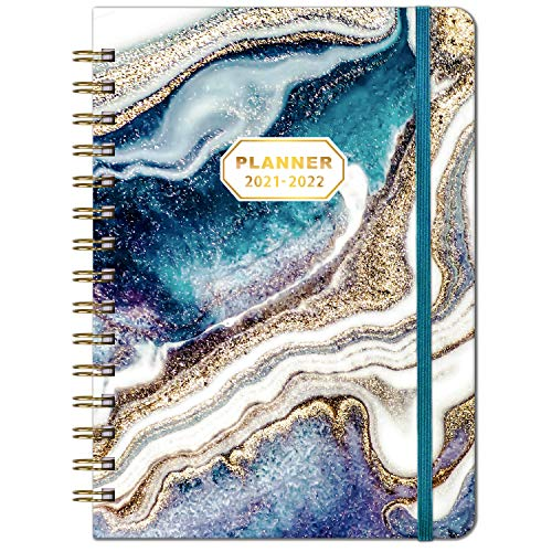 "2021-2022 Planner - Academic Planner 2021-2022 from July 2021 - June 2022, 6.4""x 8.5"", Flexible Cover Planner with Elastic Closure, Coated Tabs, Inner Pocket"