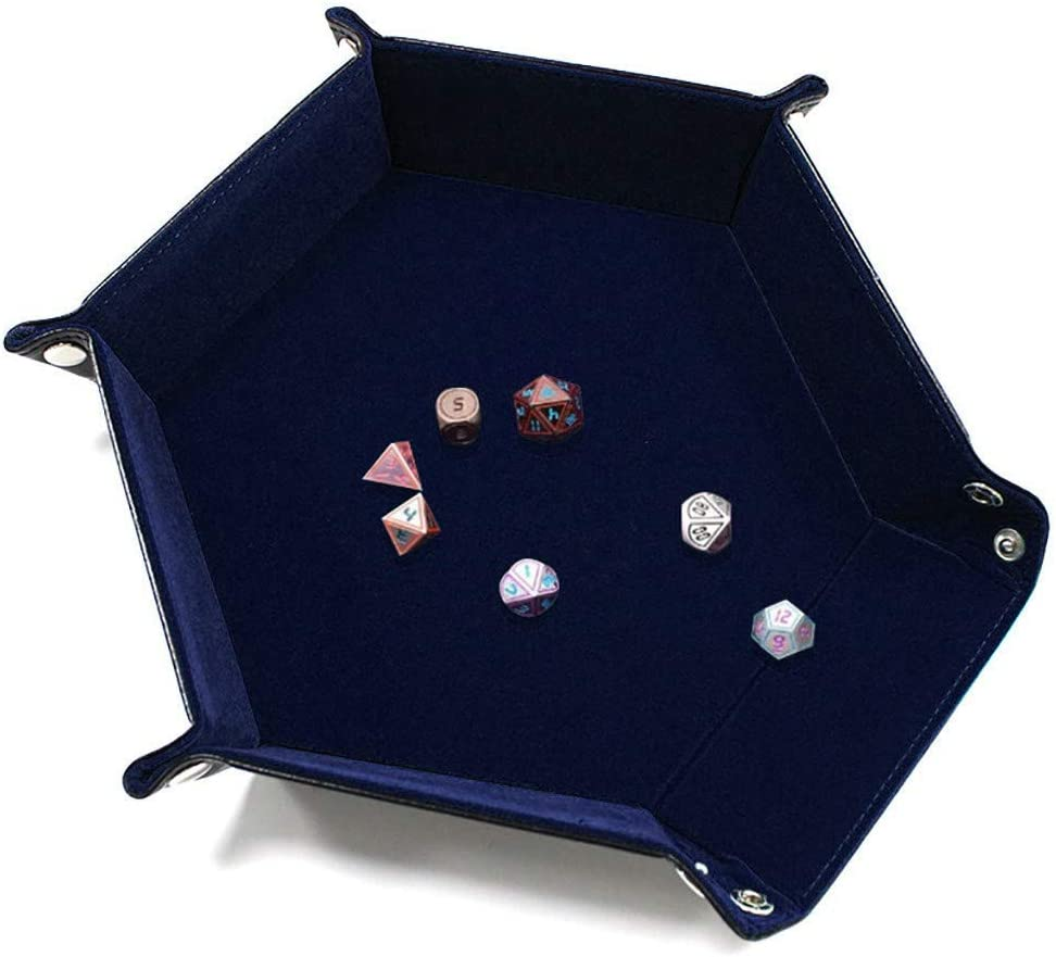 Kiorc Dice Tray Portable Folding Dice Rolling Tray for use as Game Dice Tray Dice Tray