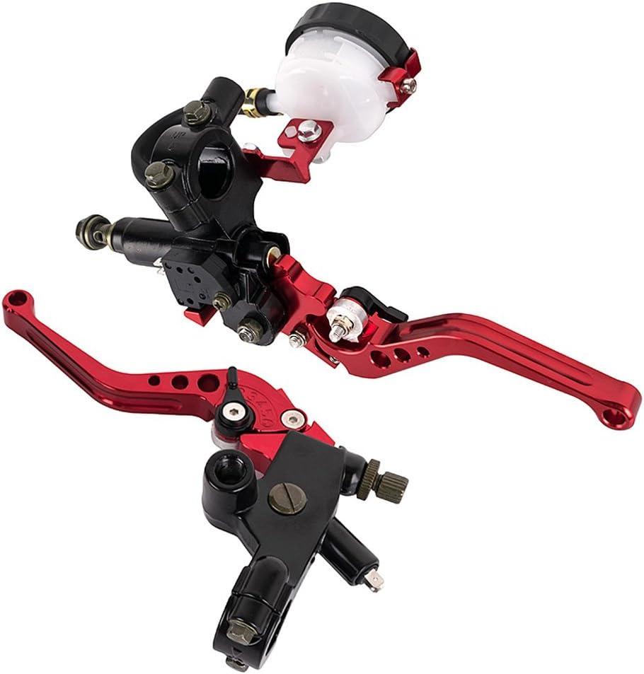 argent 22mm 7//8R/églable Moto Embrayage Levier De Frein Ma/ître Cylindre Pompe Ensemble pour Ducati pour Yamaha 250CC /à 500CC
