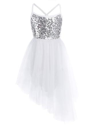 6bf6c1267 Amazon.com  FEESHOW Girls Sequins Camisole Ballet Dress Leotard Tutu ...