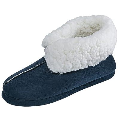 meilleures offres sur dernière remise gros en ligne JACKSHIBO Hommes Hiver Confort Luxe Chaussons Chaudes Coton ...