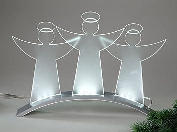 Weihnachtsdeko Aus Acryl.Formano Led Licht Engelgruppe 40cm Moderne Weihnachtsdeko Aus Acryl