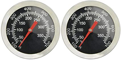 Onlyfire Professional Bbq Charcoal Smoker Gas Grill Char Grillers Dia 2 Thermometer 2 Pack Temperature Gauge Industrial Scientific