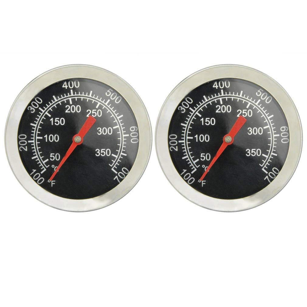 Onlyfire Professional BBQ Charcoal Smoker Gas Grill Char-Grillers Dia 2'' Thermometer (2-Pack) Temperature Gauge by only fire