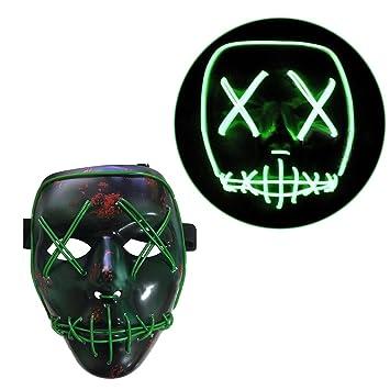 Tinksky Frightening Halloween Cosplay LED Máscara Encender la máscara para fiestas de fiesta Trajes de Halloween: Amazon.es: Juguetes y juegos