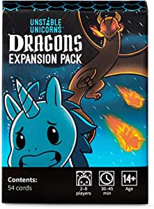 Unstable Unicorns Dragons Expansion Pack, 2-8 Players