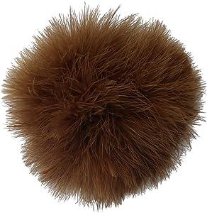 dailymall Fluffy Large 15cm Turkey Feather Pompom Ball Car Handbag Keychain Hat Decor - Caramel