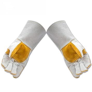 Handschuhe Schweißen Schweißer Leder Verschleißschutz Hochtemperatur ...