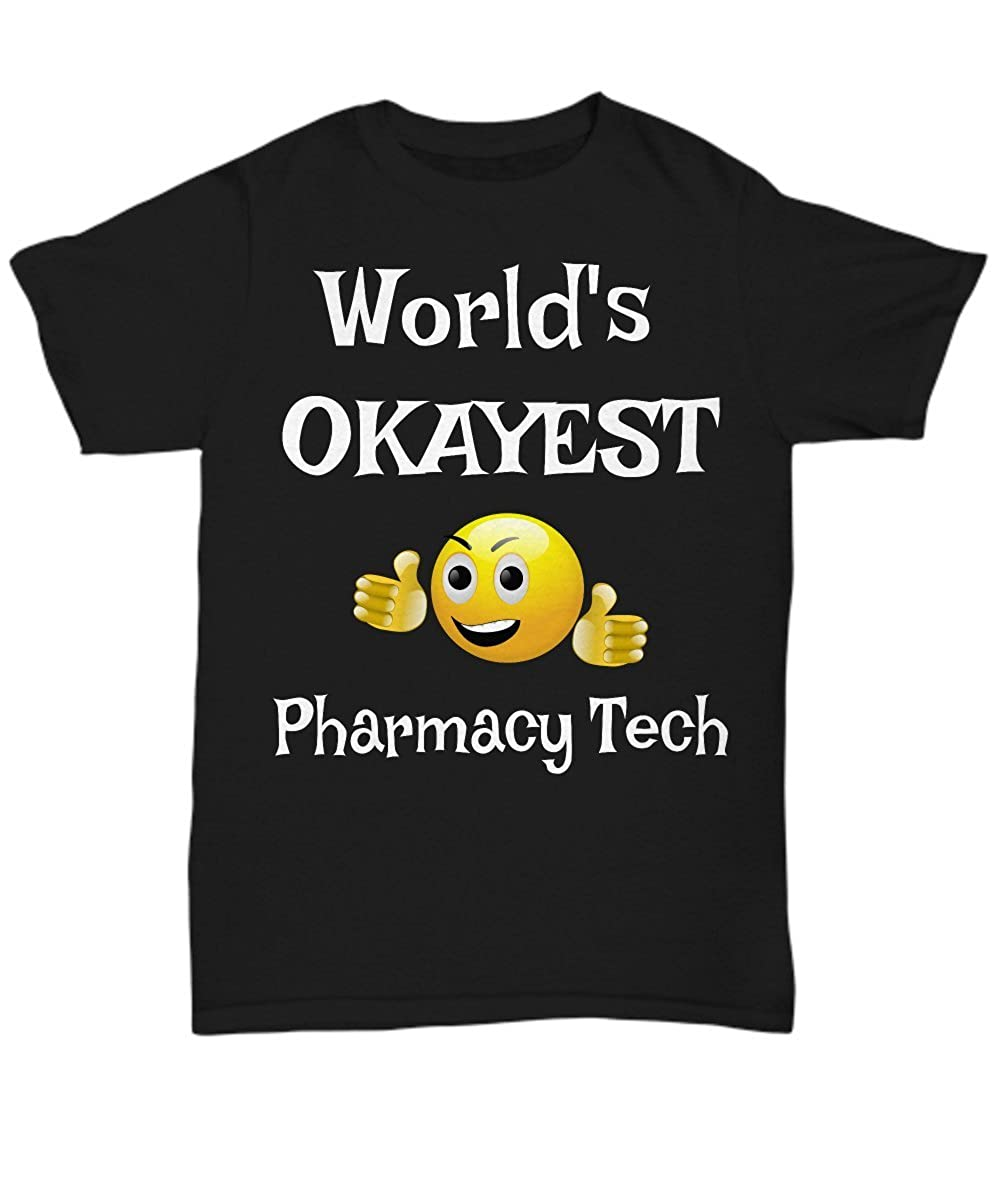 Unisex tees T-Shirts Gifts Infini Shoppify Worlds Okayest Pharmacy Tech Tees Okayest Employee
