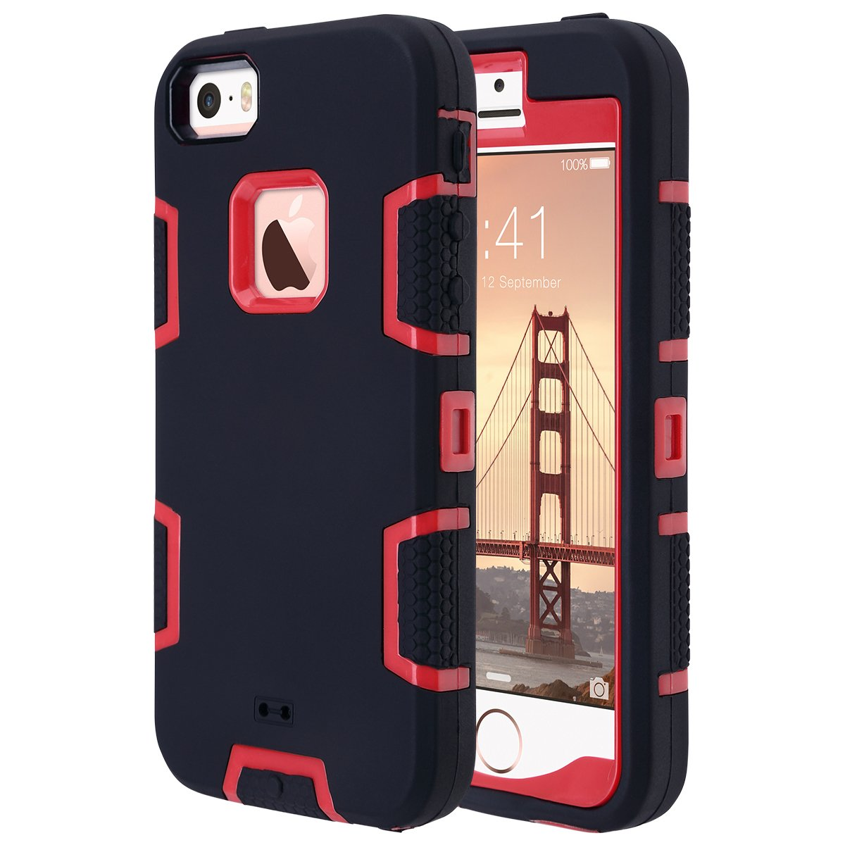 f9c19d94155854 Amazon.com  ULAK iPhone SE Case