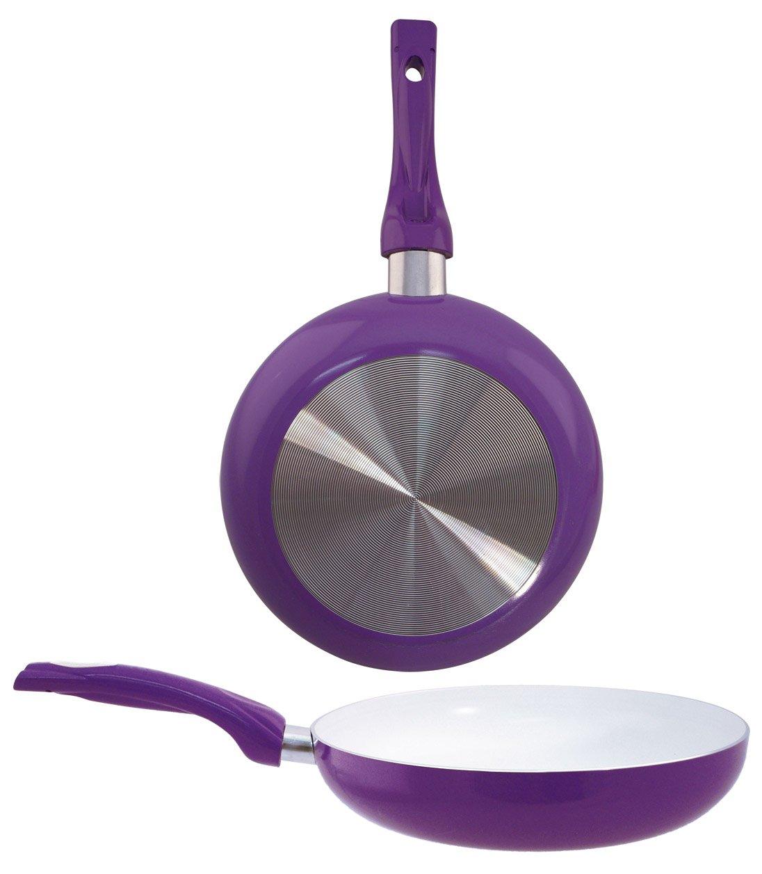 EURO-HOME Ceramic Coated Fry Pan, 8'', Purple