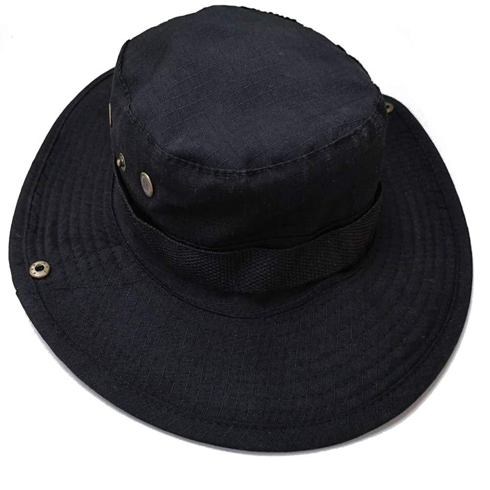 Lumiparty Cappello Pescatore, Cappelli Uomo Estivo Tesa Larga Anti UV Boonie Bucket Hat Pieghevole per Viaggio, Caccia, Safari