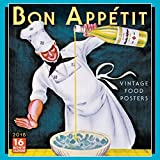 Sellers Publishing 2018 Bon Appetit: Vintage Food Posters Wall Calendar (CA0112)